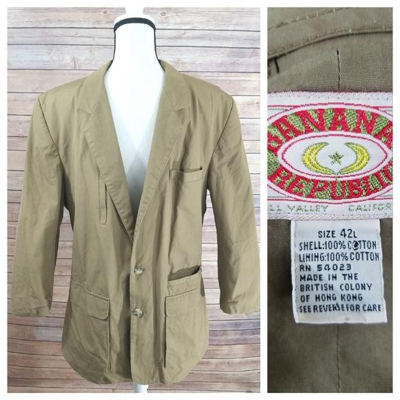 Banana Republic Suits Blazers Vintage 42l 42 Tall Blazer Jacket